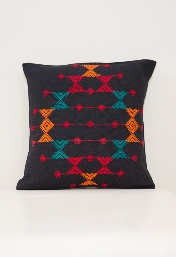Kutch Weave Throw Pillow Black