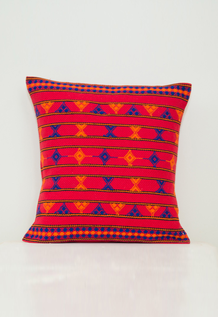 Kutch Weave Throw Pillows Red