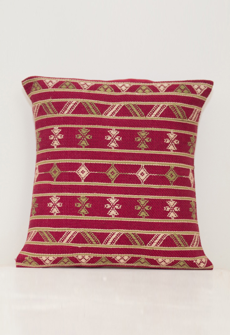 Purple Kutch Weave Cushion Covers - 11 inch square