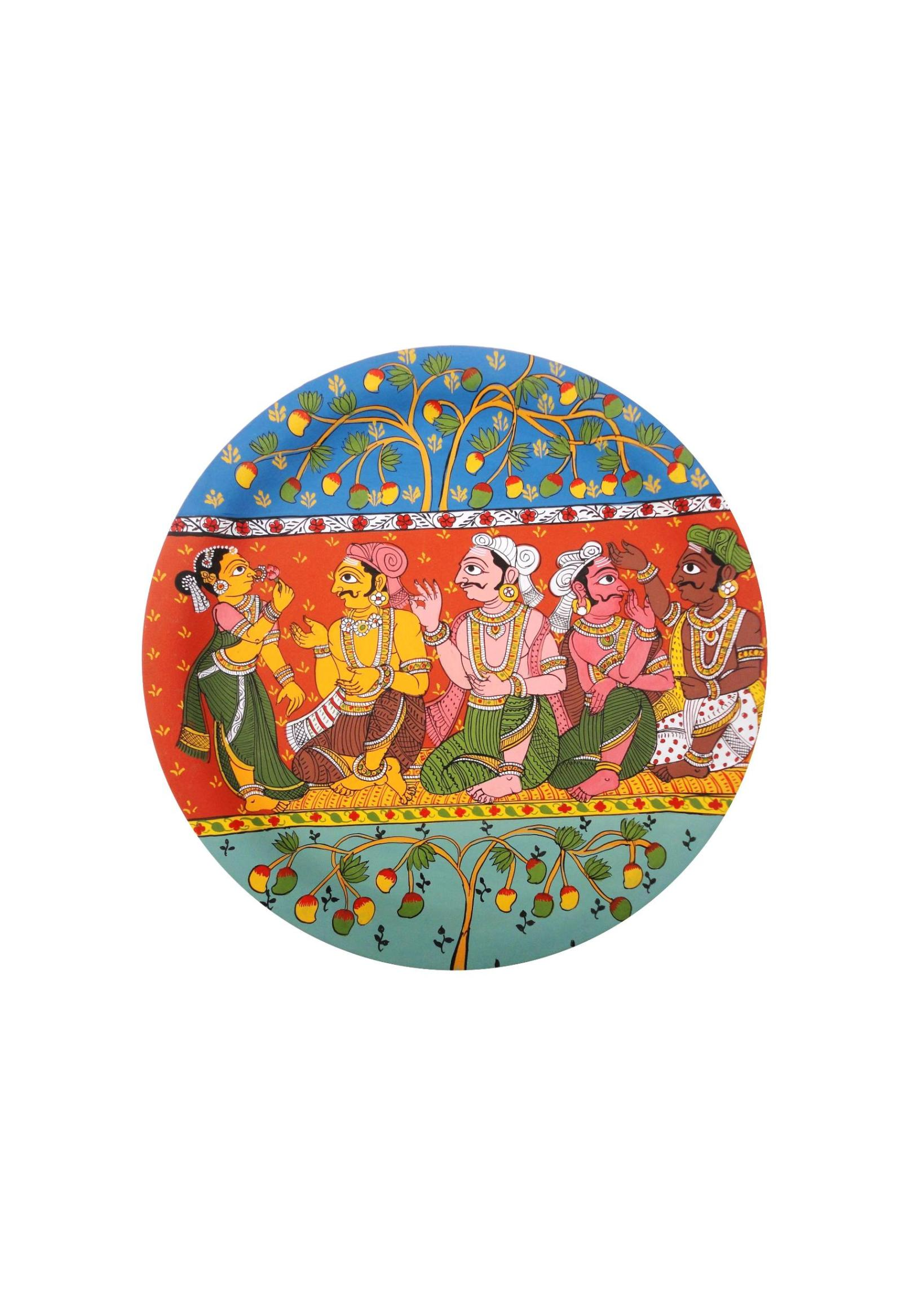 Royal Discussions in Cheriyal Painting