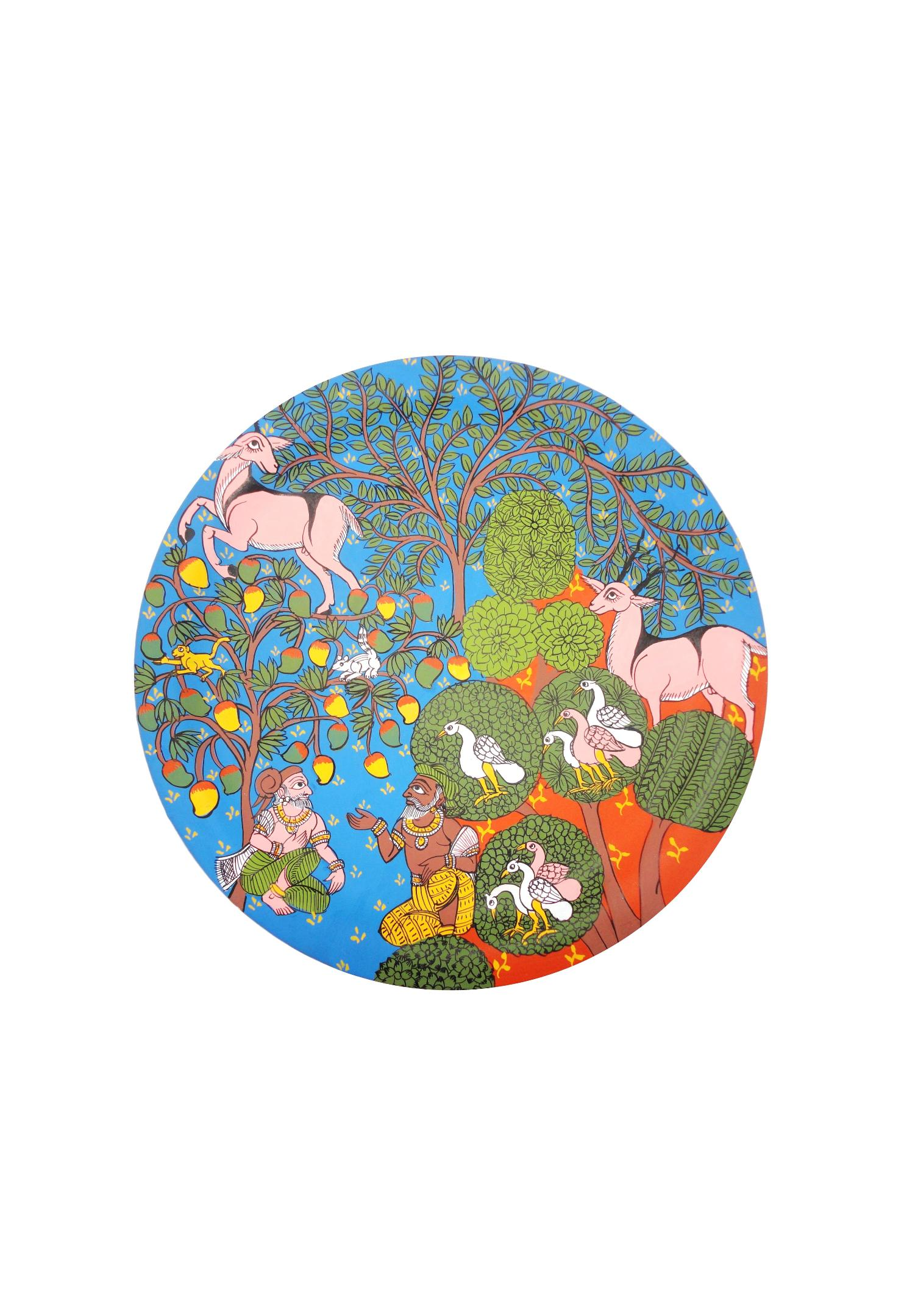 Priests in a Forest in Cheriyal Painting