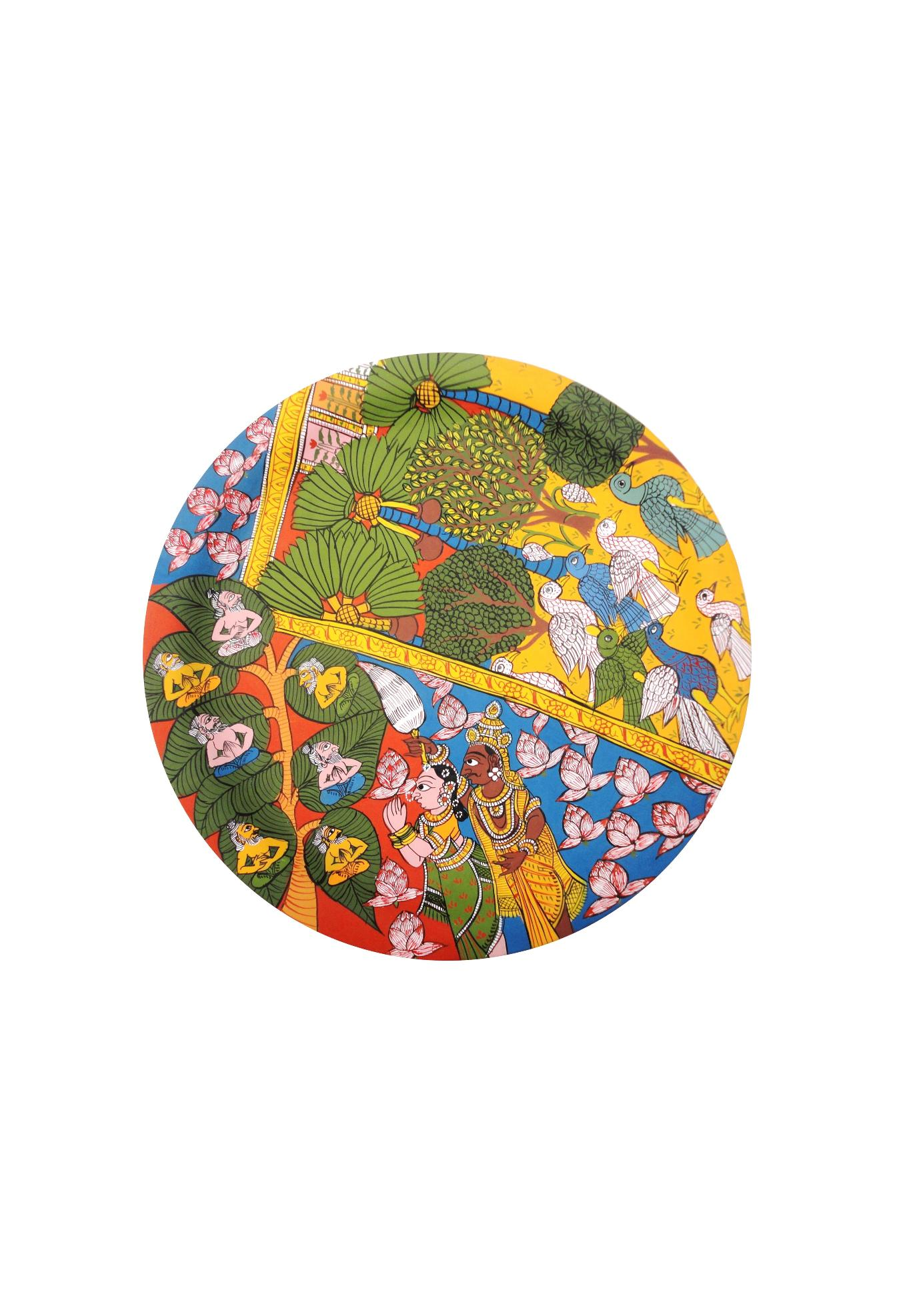 Seven Priests in Cheriyal Painting