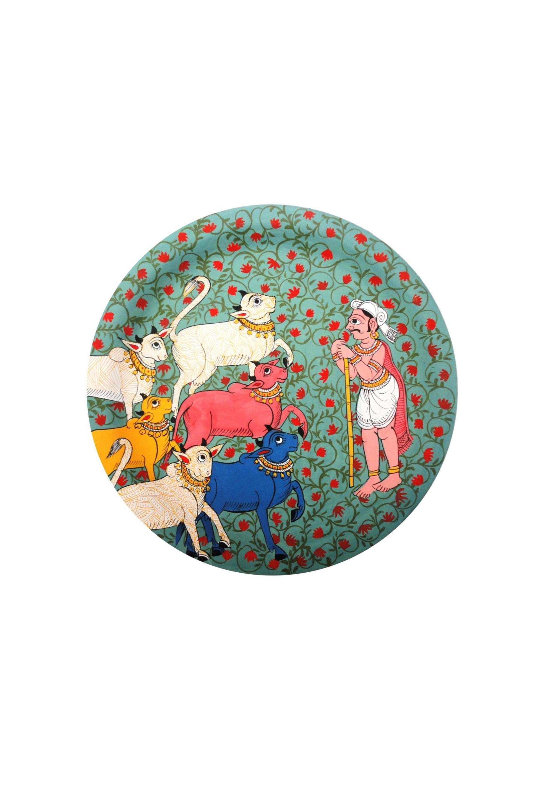 Herdsman in Cheriyal Painting