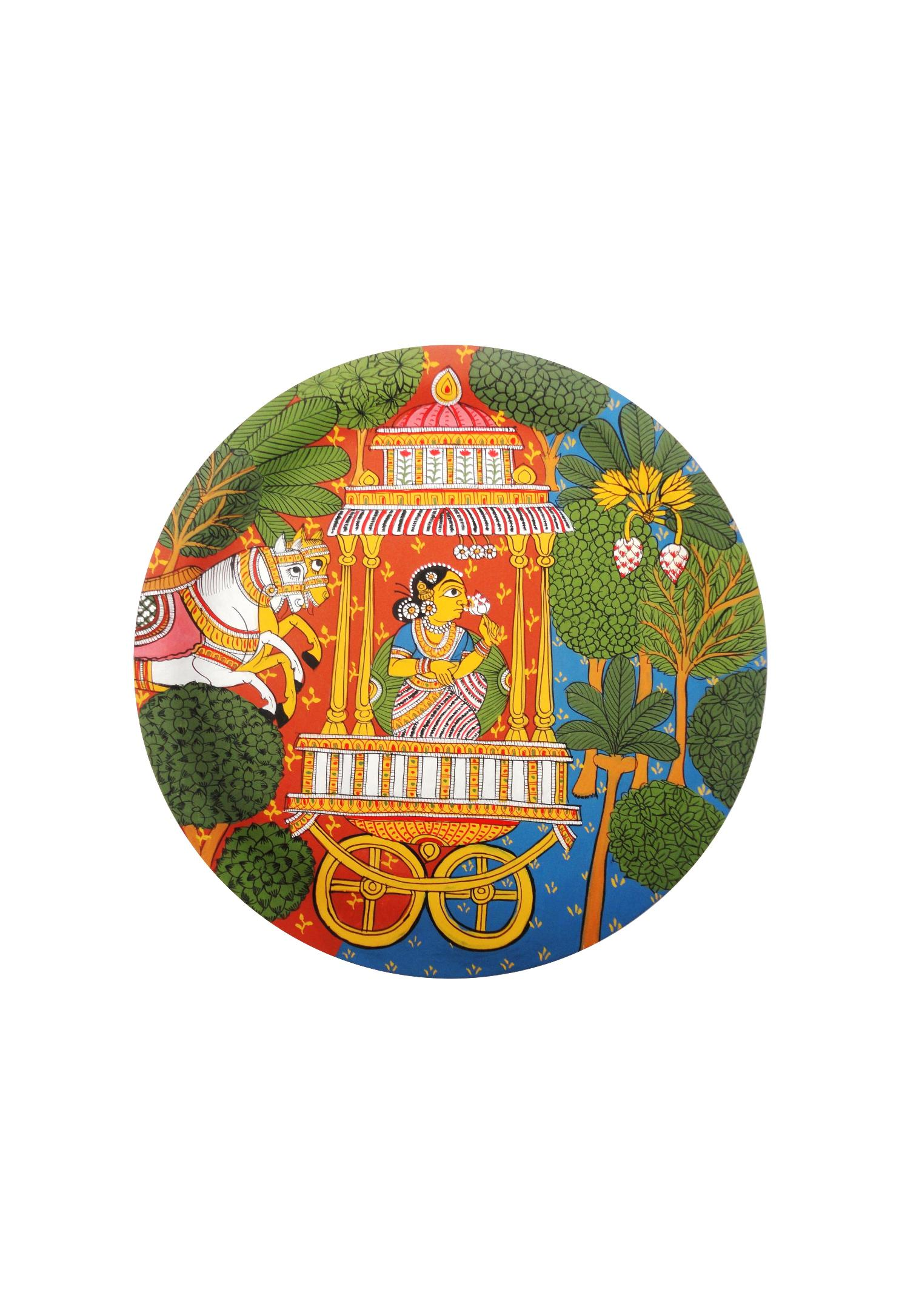 Queen in the Forest in Cheriyal Painting
