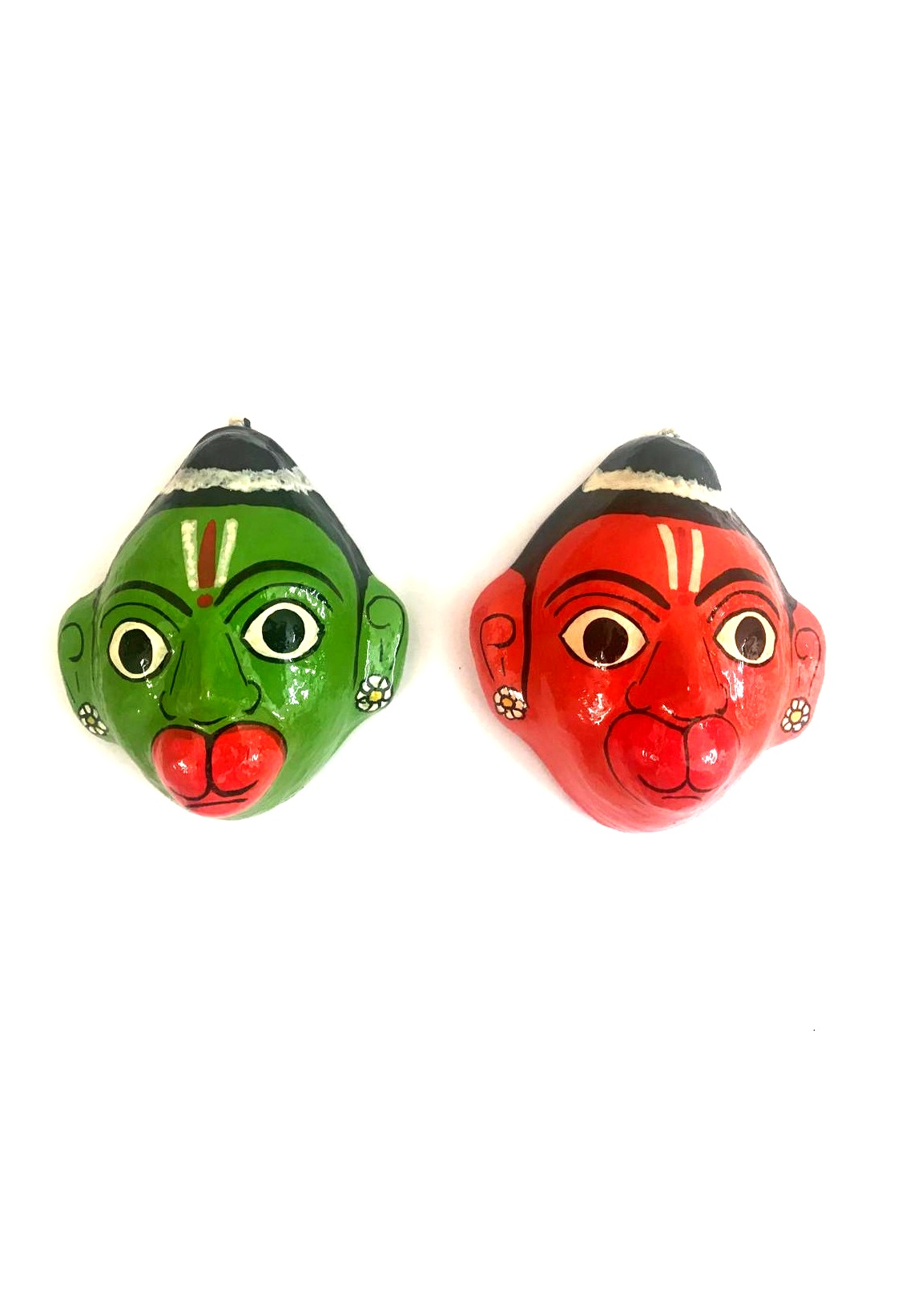 Hanuman Cheriyal Masks Pair