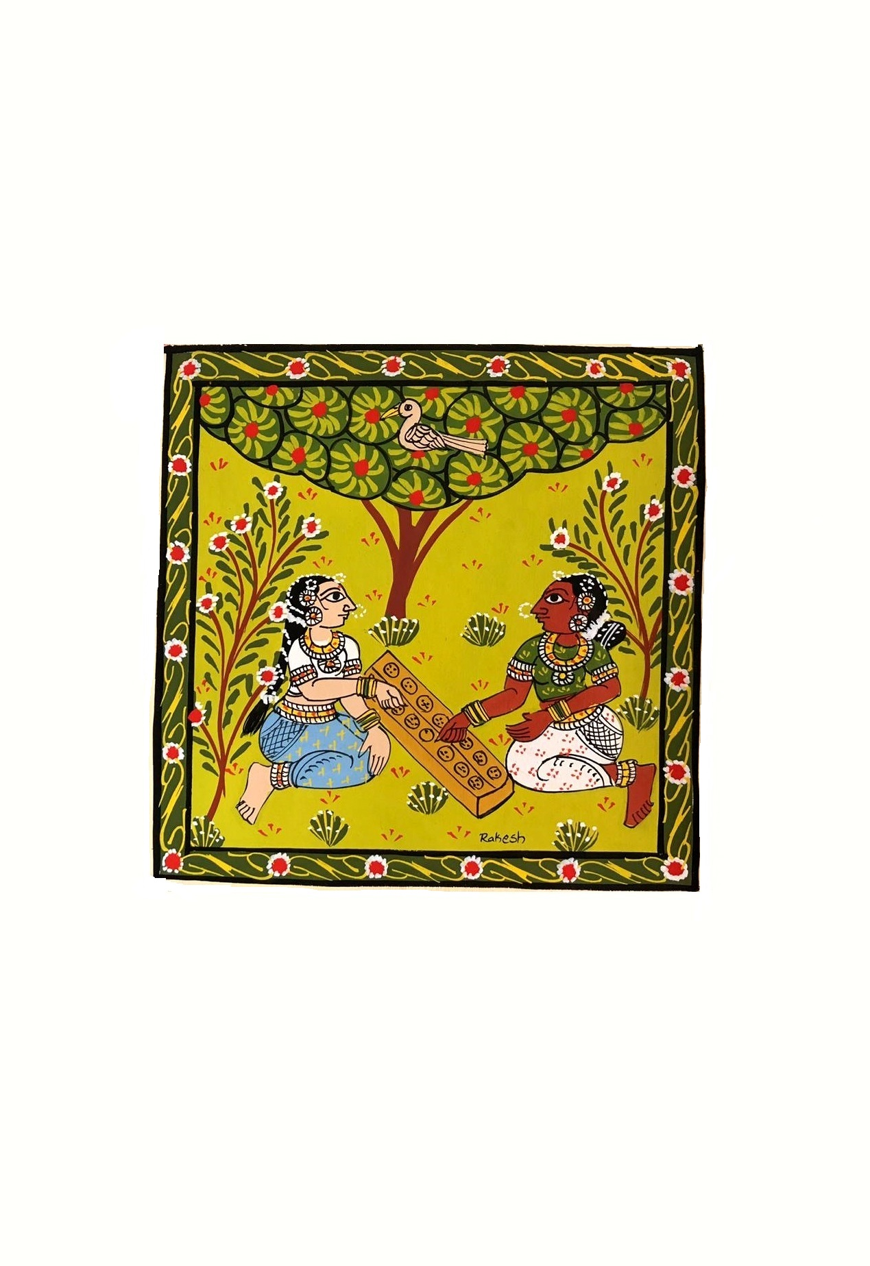 Women at Play in Cheriyal Painting