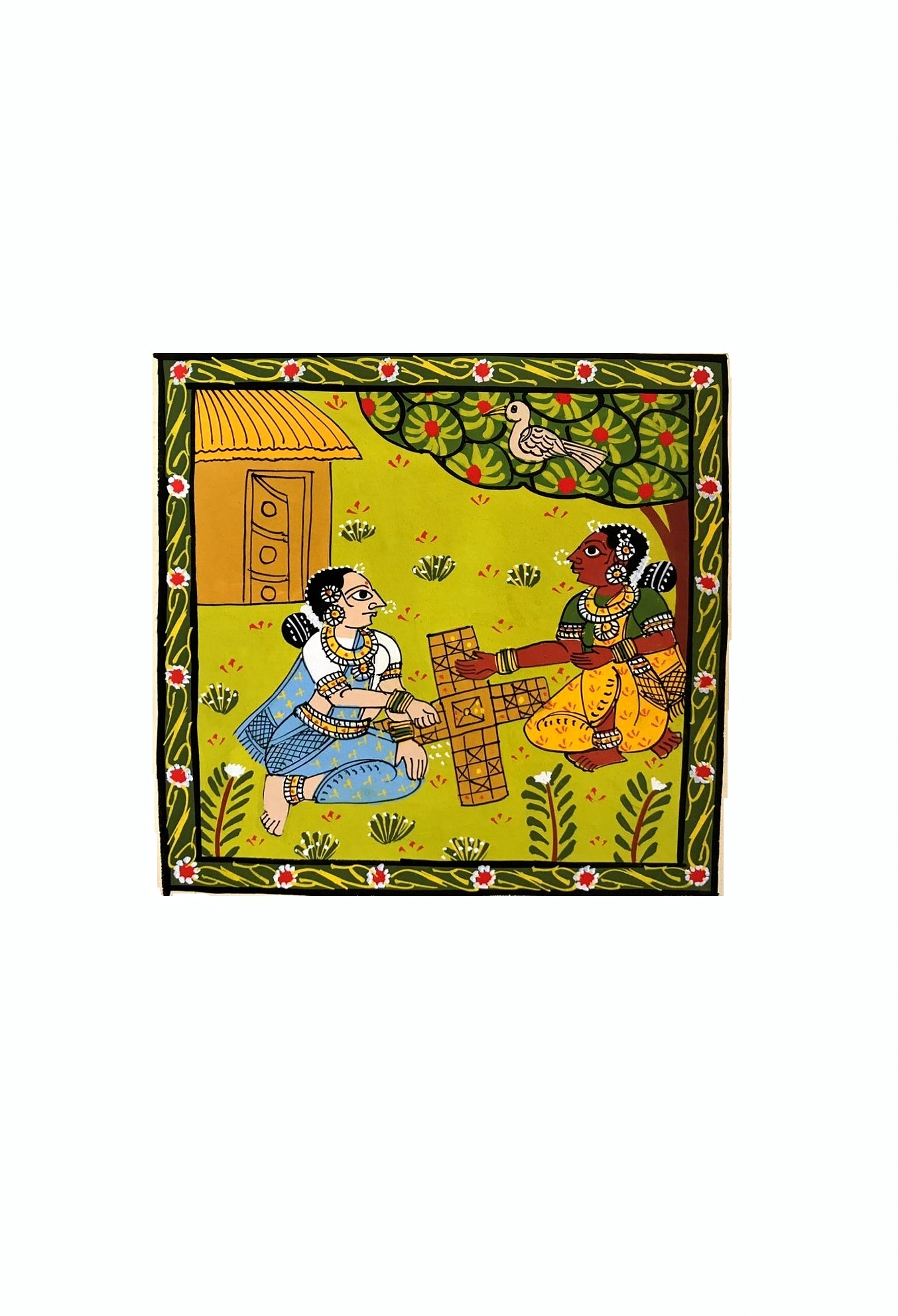 Village Women at Play in Cheriyal Painting