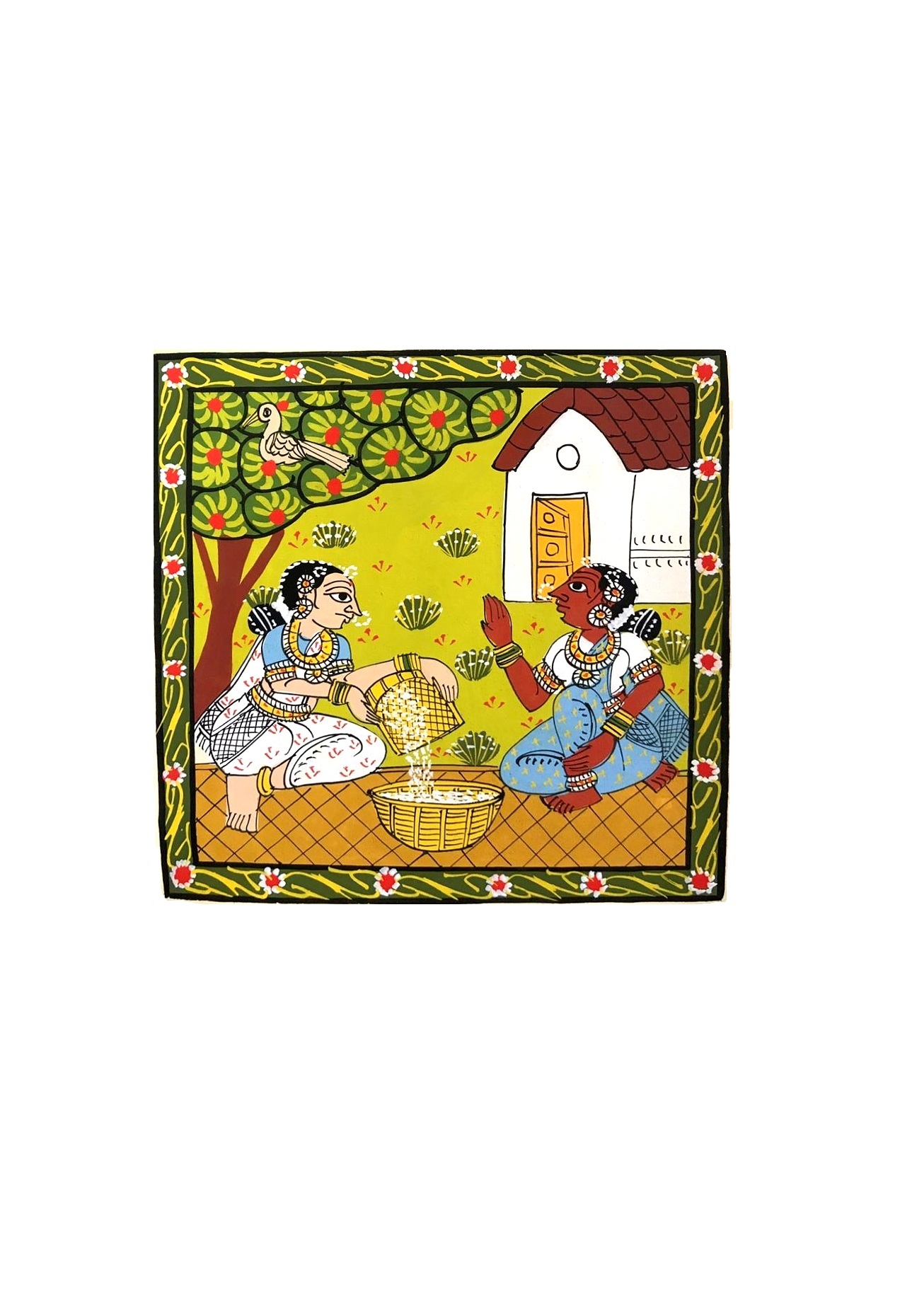 Village Women Work in Cheriyal Painting