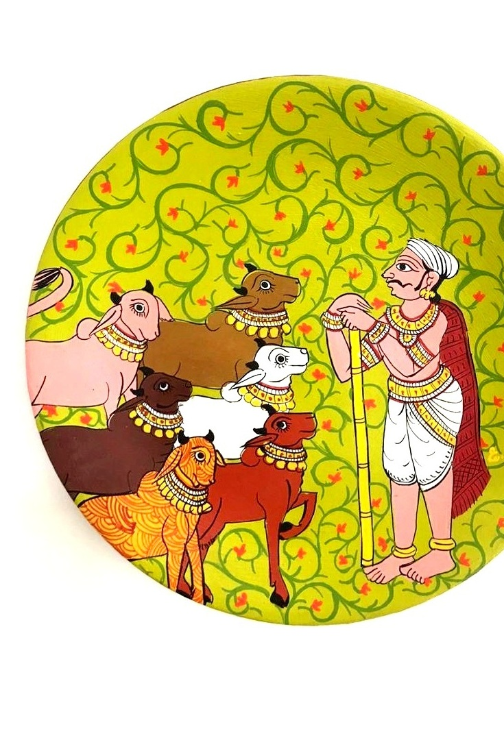Cow Herdsman in Cheriyal Painting