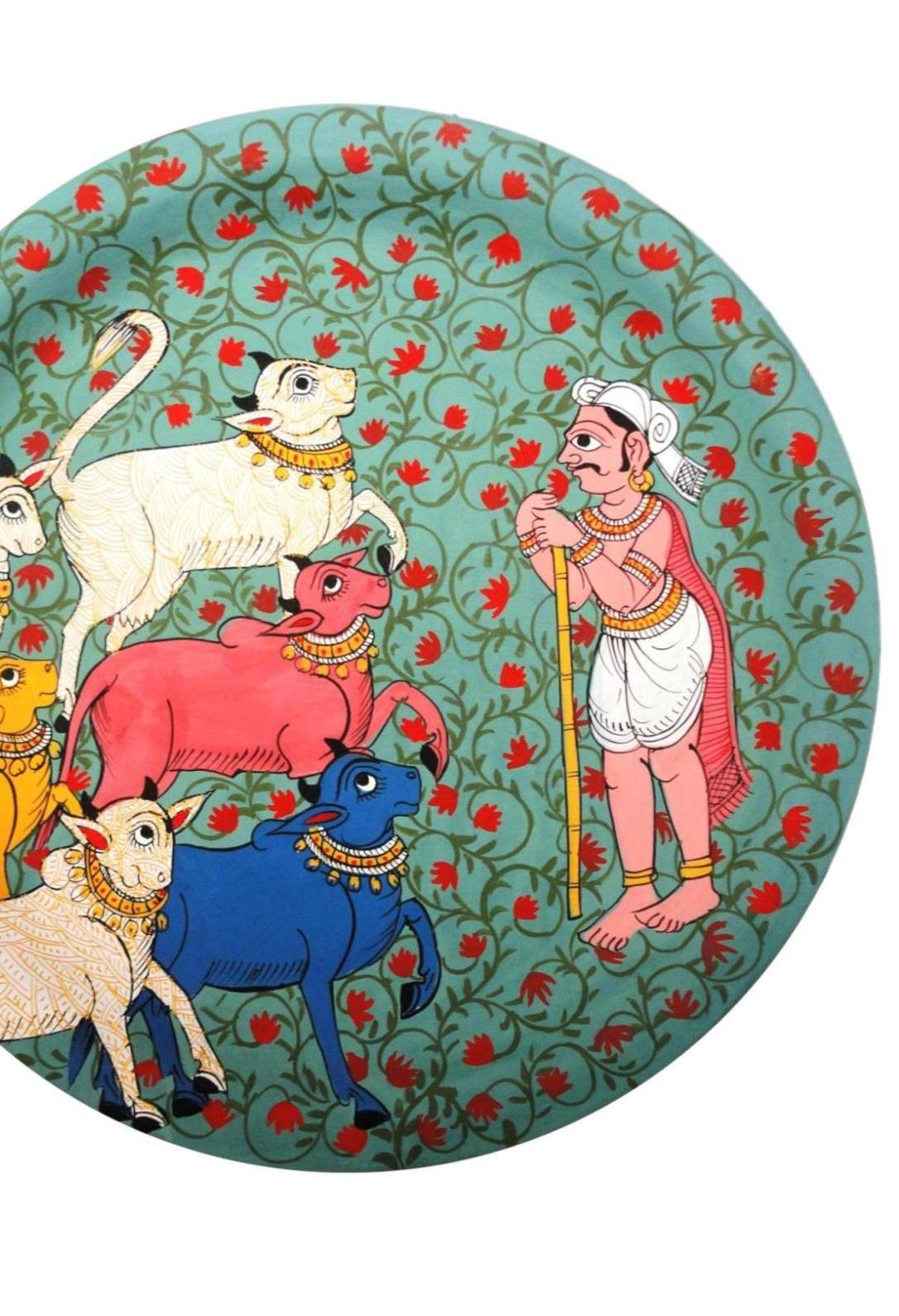 Herdsman in Cheriyal Painting