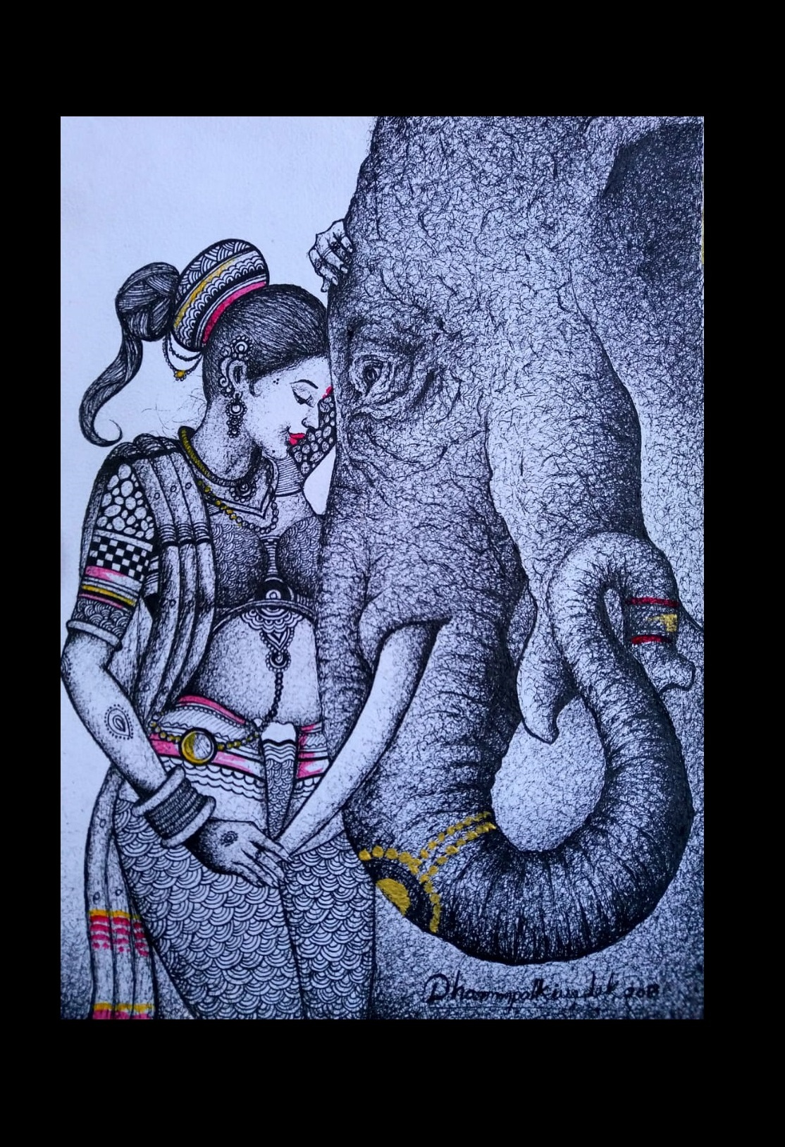 Lady and Elephant