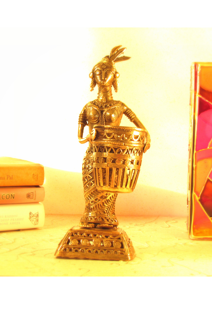 Dhokra Fisherwoman Tealight Holder