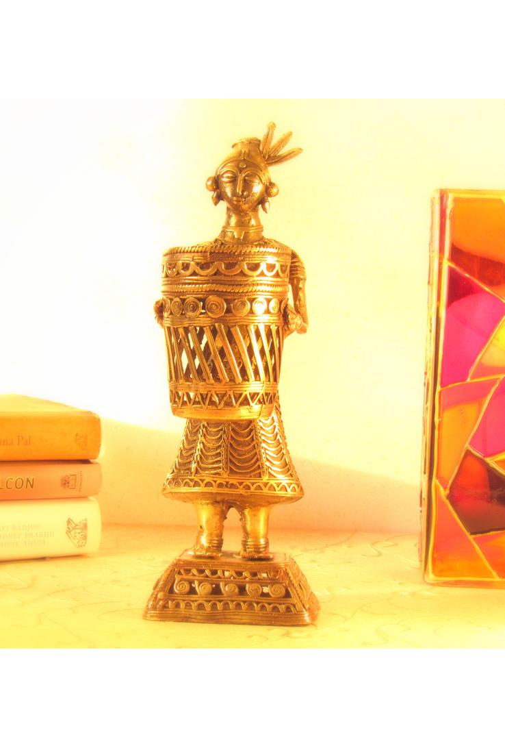 Dhokra Fruitseller Tealight Holder