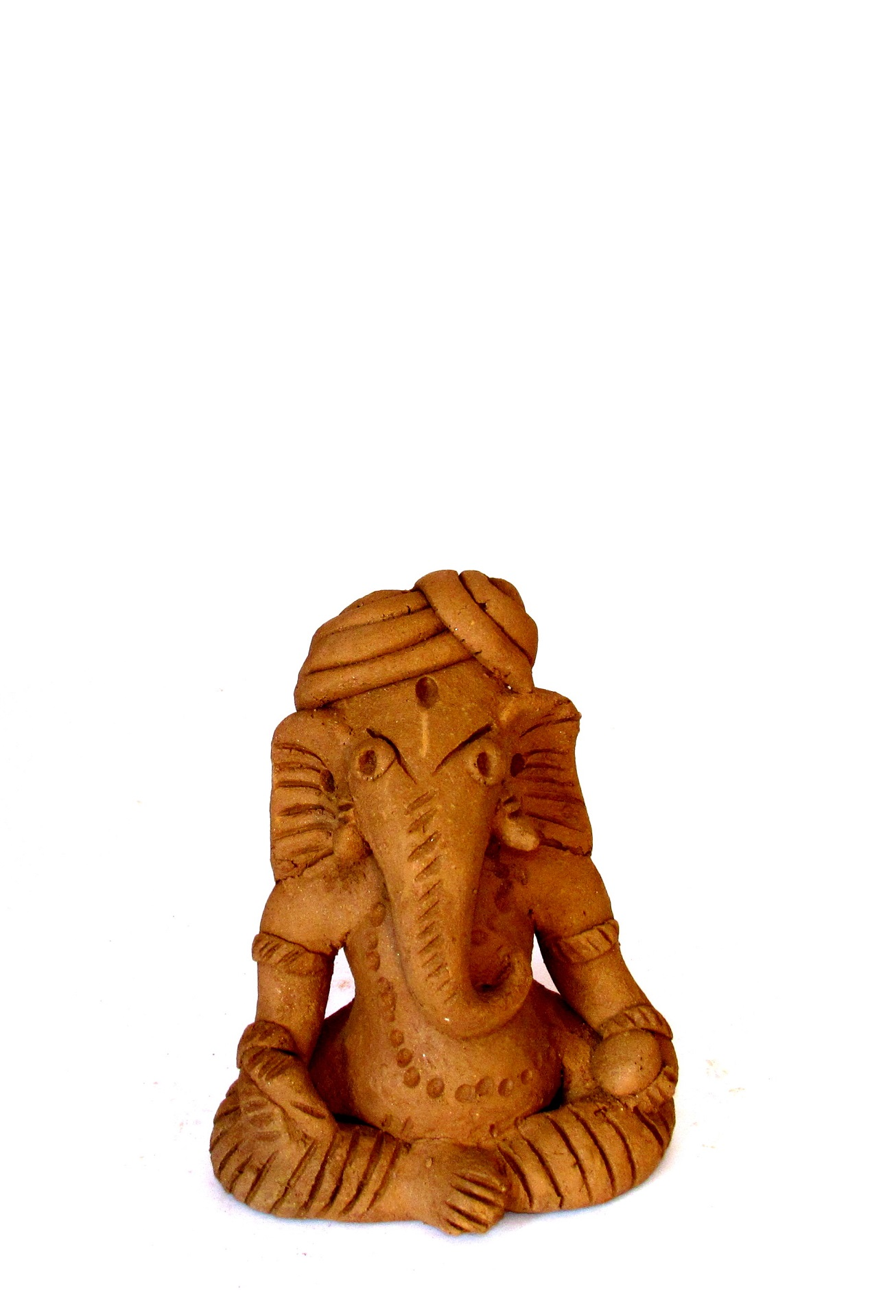 Handcarved Clay Ganapati 12