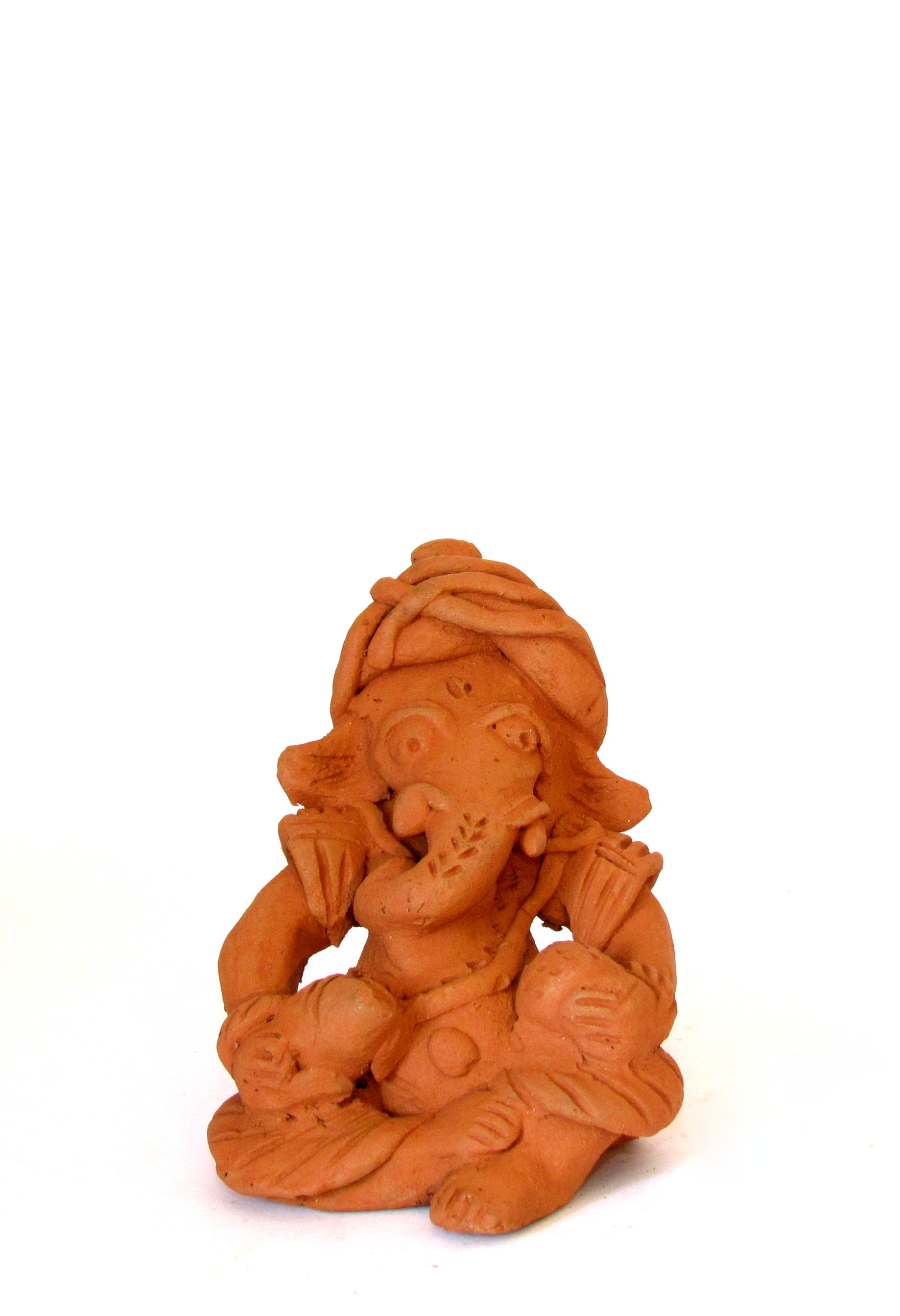 Handcarved Clay Ganapati 13