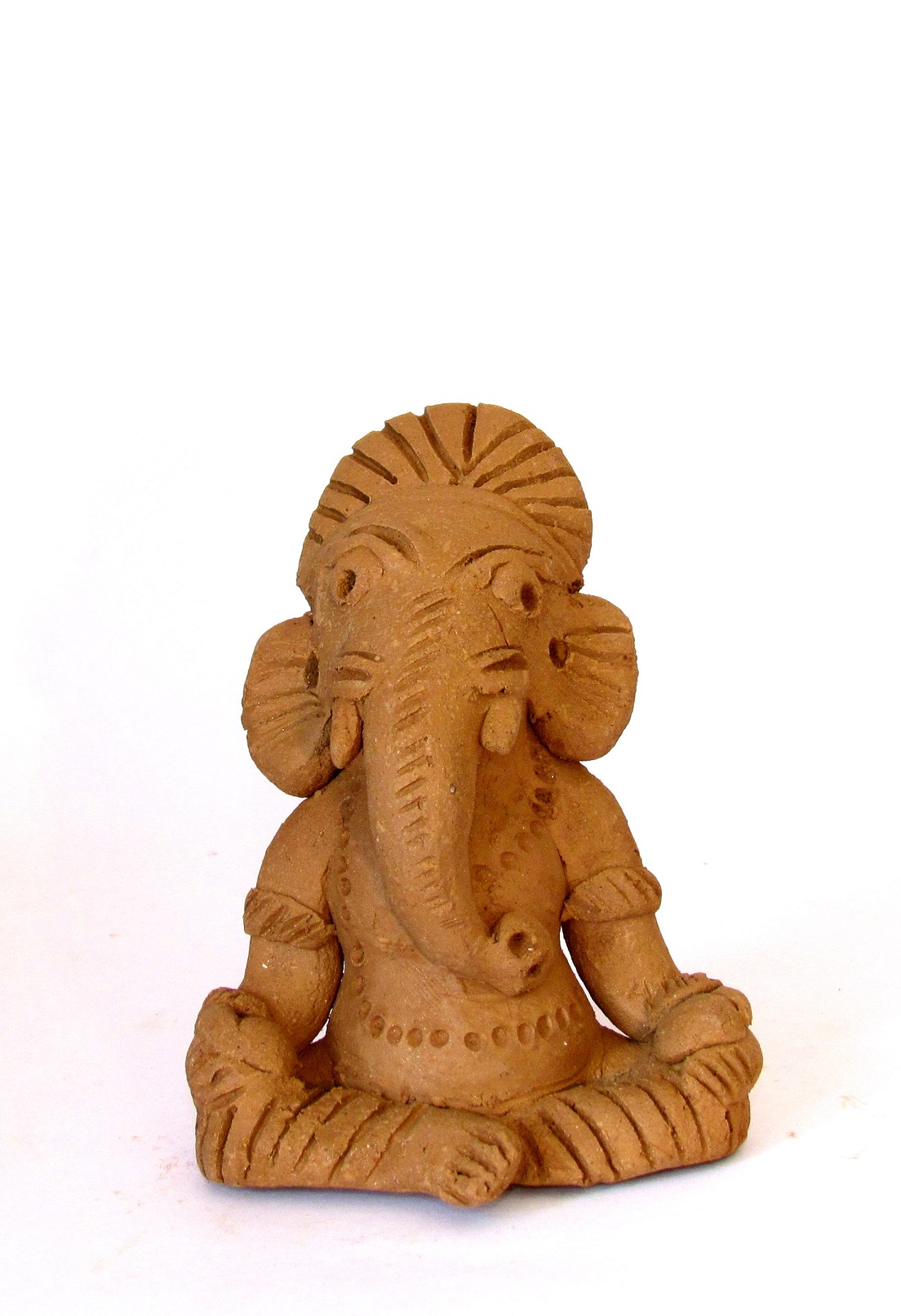 Handcarved Clay Ganapati 14