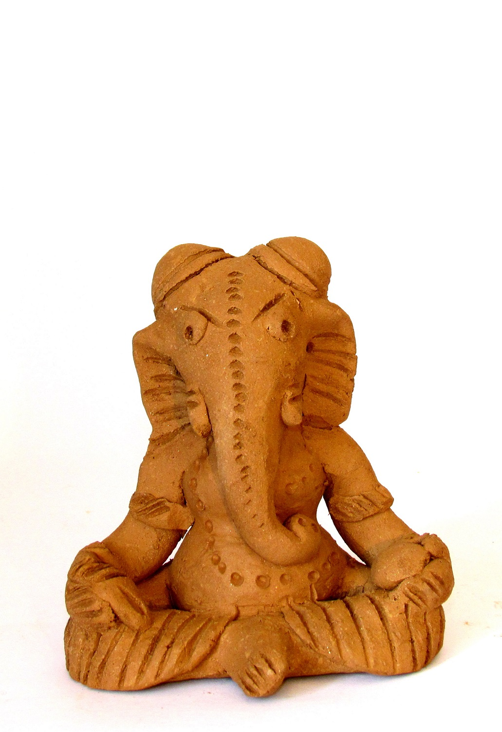 Handcarved Clay Ganapati 15