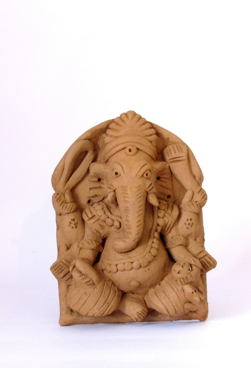 Handcarved Clay Ganapati 1