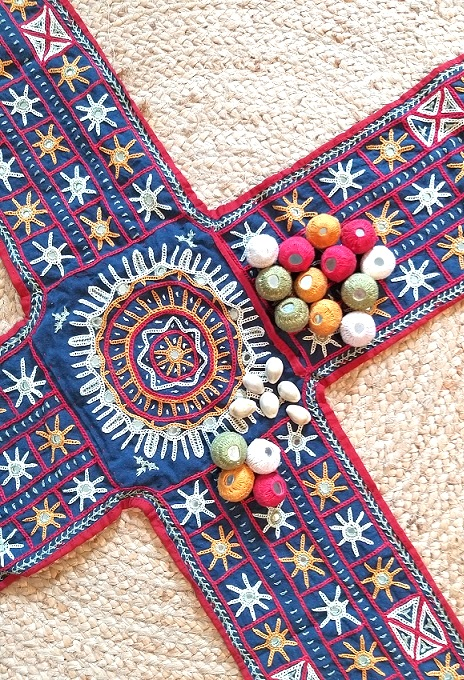 Chopad Boardgame in Rabari Kutch Hand Embroidery