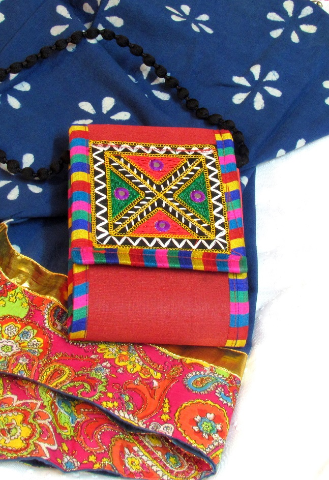 Red Kutch Embroidered Handmade Sling Bag