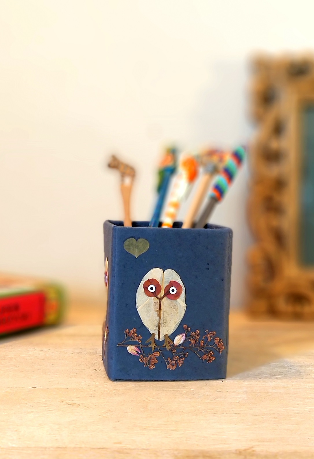 Curious Owl Pencil Holder