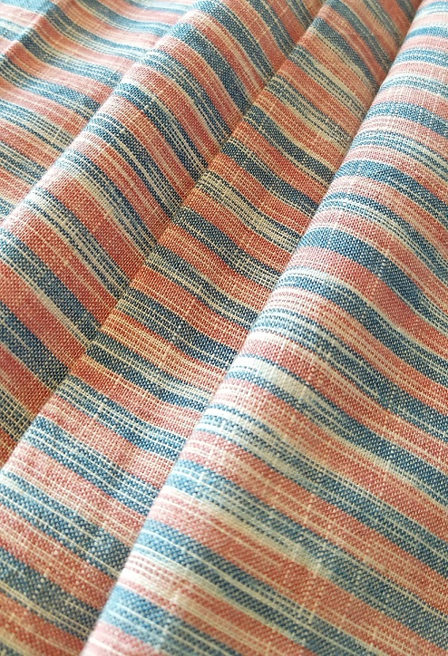 Blue Red Pure Handwoven Cotton