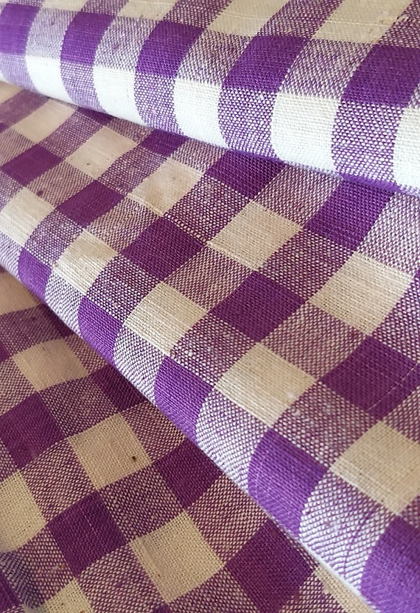 Purple Checks Khadi