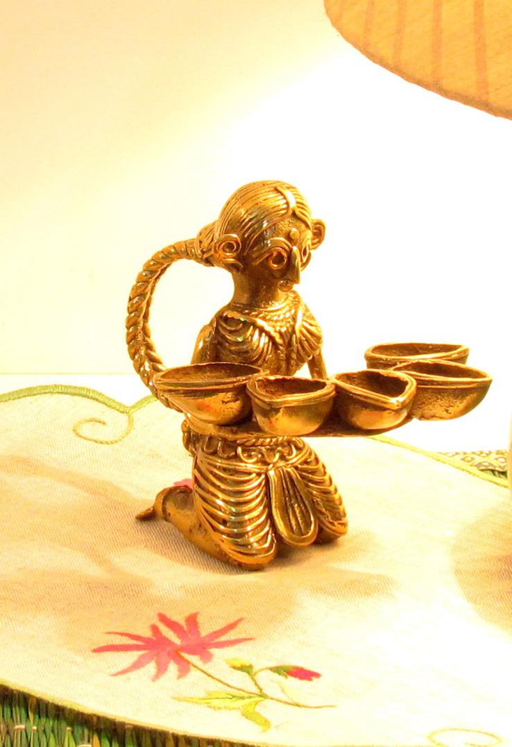 Paanch Diya Dhokra Oil Lamp