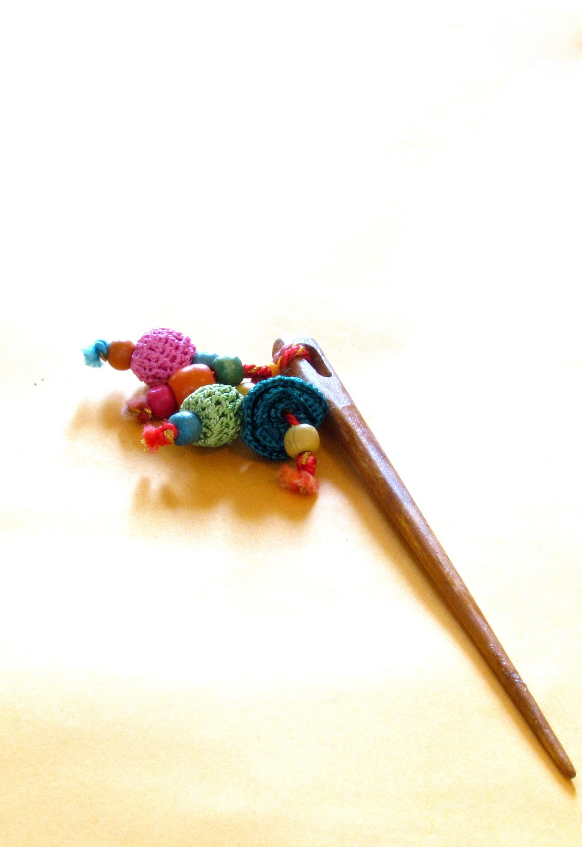 Blue Floral Crochet Hairpin 1