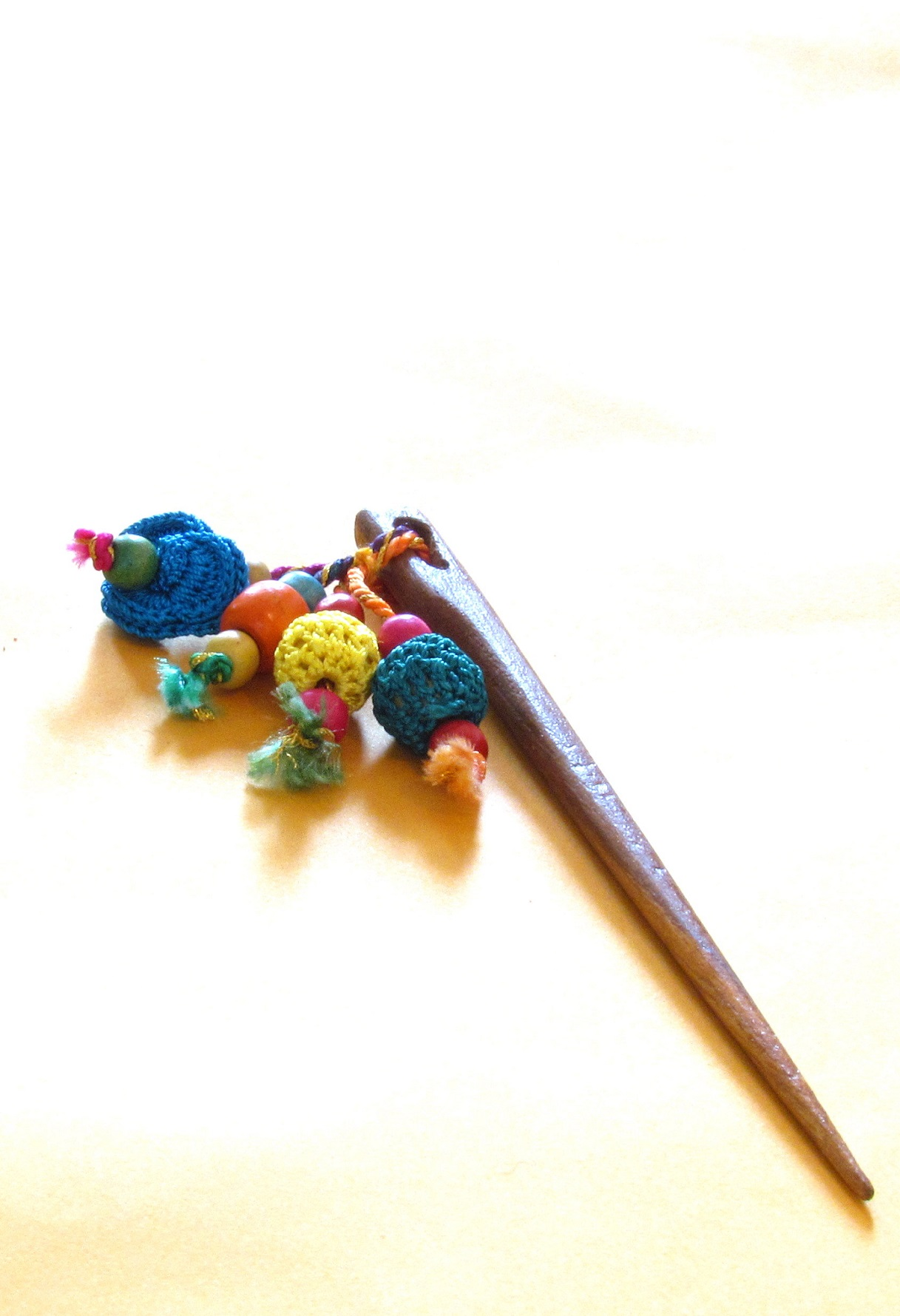 Blue Floral Crochet Hairpin 3