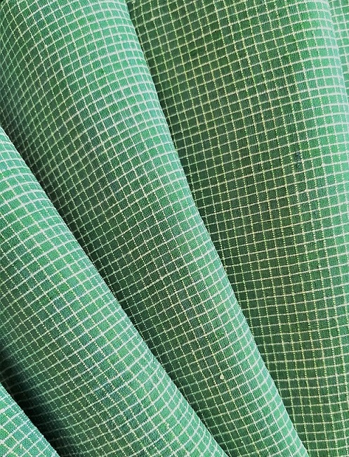 Green Checks Khadi