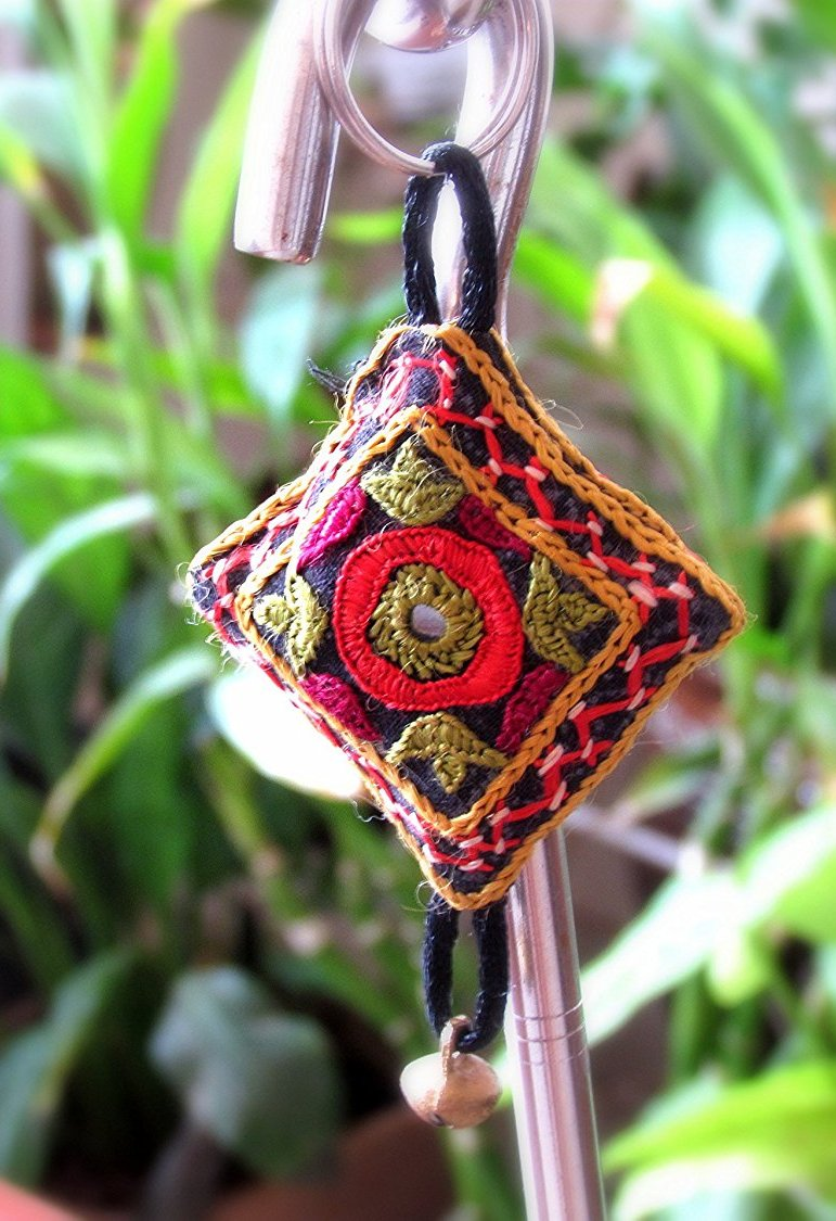 Multi Colour Kutchi Embroidered KeyRing