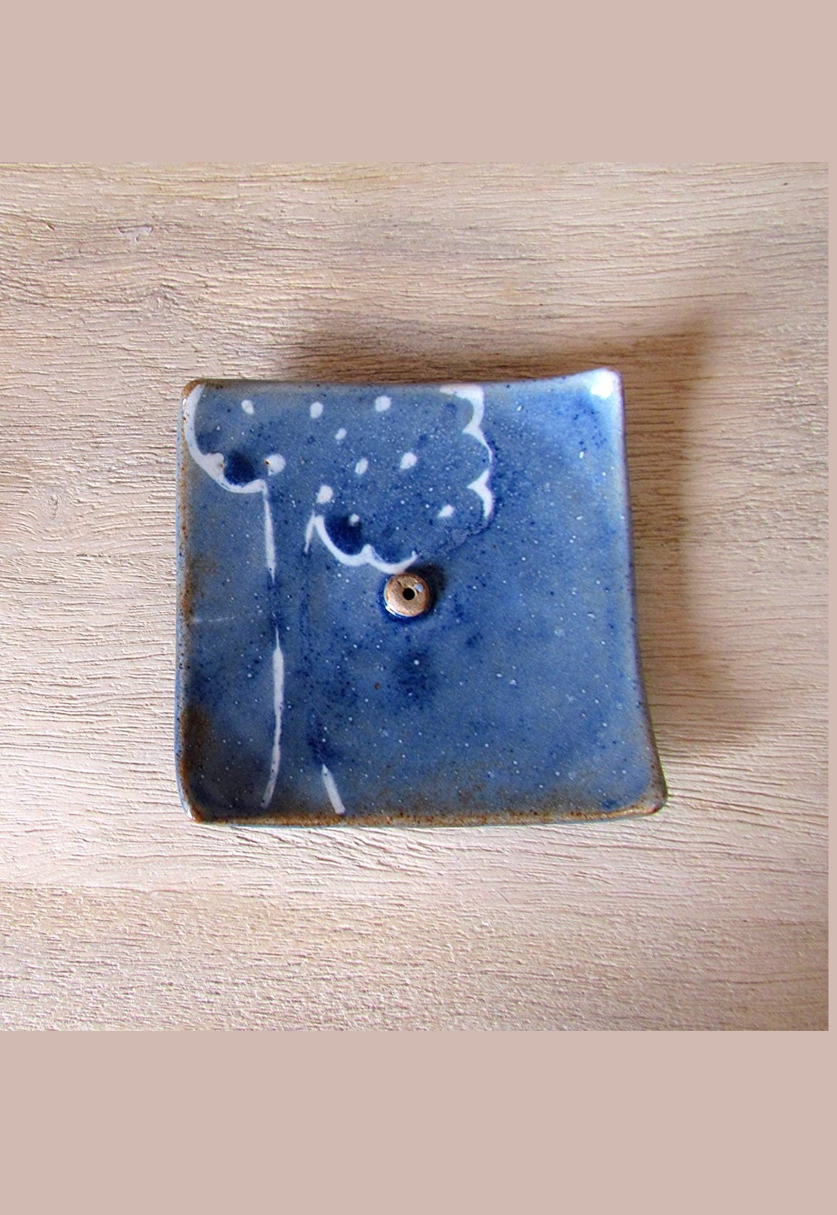 Dreamy Blue Ceramic Incense Holder
