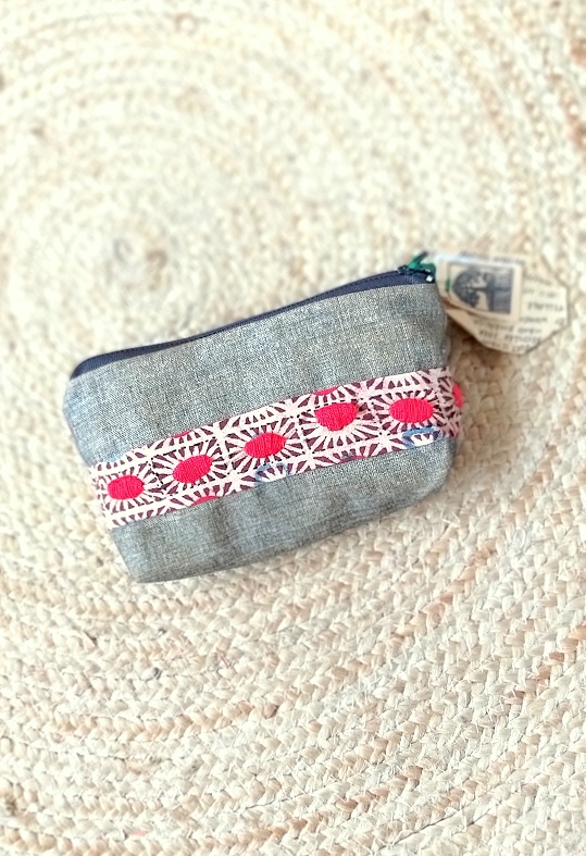 Handmade & Recycled Fabric Pouch 4