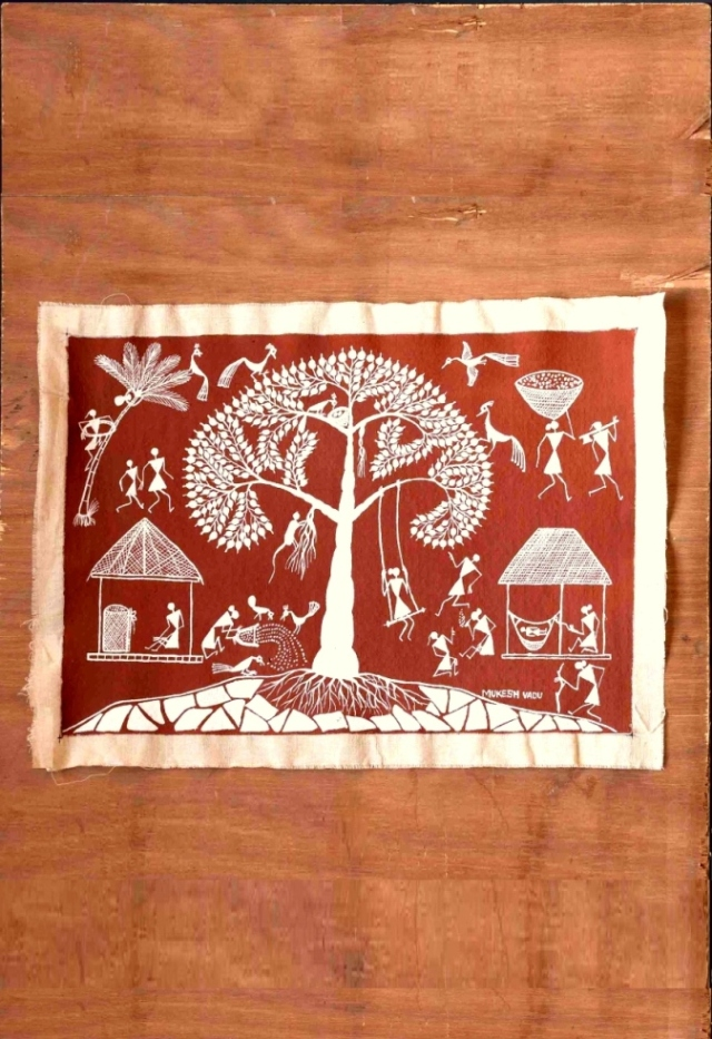 One Tree Warli Art
