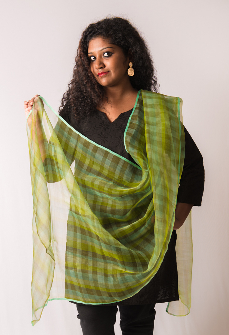 Green Tissue Silk