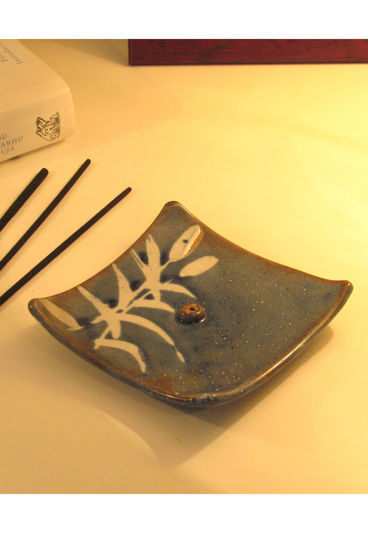 Blue Buds Ceramic Incense Holder