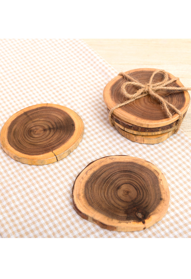 Woodstump Coasters - Set of 4