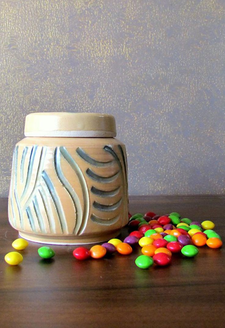 Yellow Candy Jars